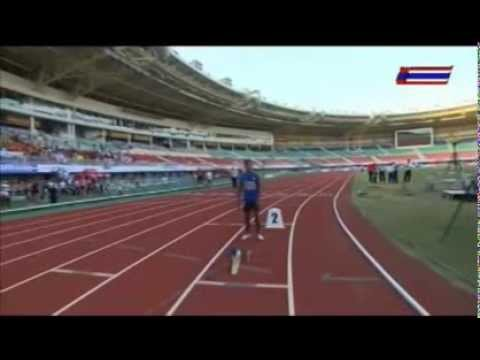 2013 ซีเกมส์ ครั้งที่ 27 เหรียญทอง วิ่งผลัด 4x400 เมตรหญิง ... ▶14:38