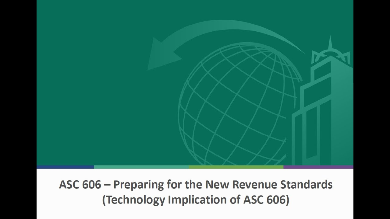 Prepare for the New Revenue Recognition Standards - YouTube