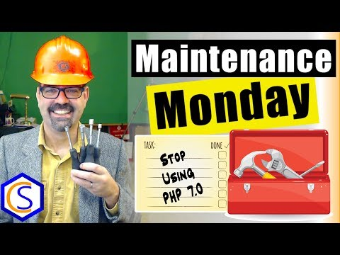 Stop Running Joomla Under PHP 7.0 (End Of Life) - 🛠 Maintenance Monday Live Stream #056