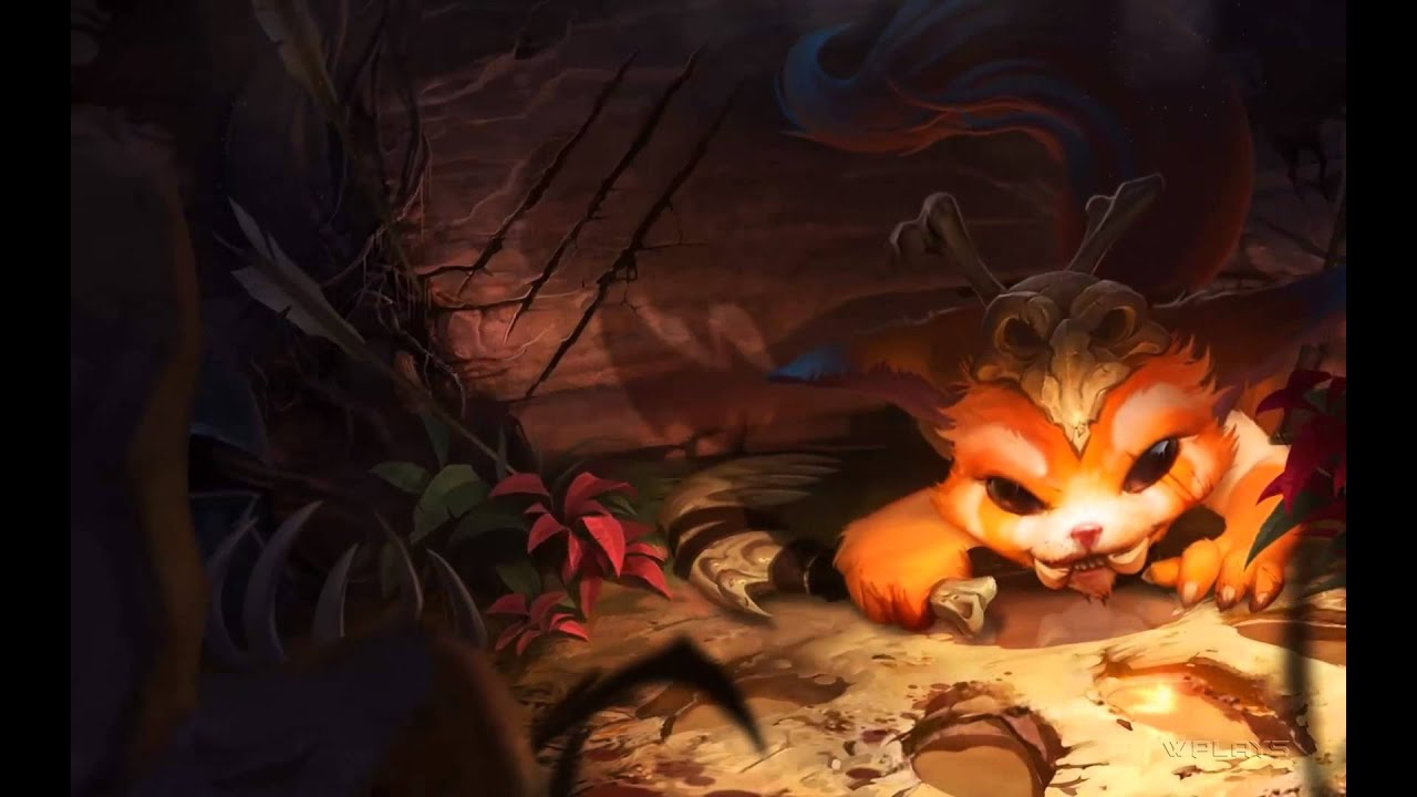 Cute Cat Hd Wallpaper Download League Of Legends Gnar Login Screen And Music 1080p Hd