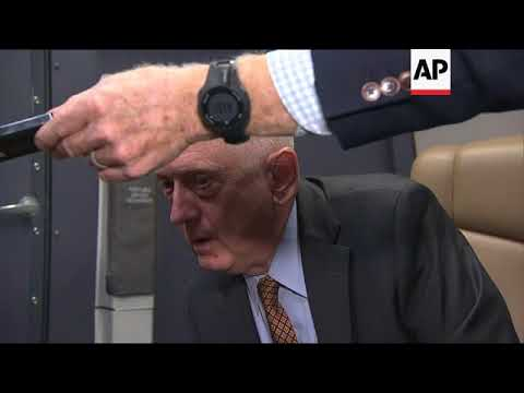 US defence secretary speaks en route to India