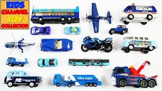 Learn Blue Color With Vehicles For Kids Children Babies Toddlers | Colors For Kids | Toy Cars Trucks