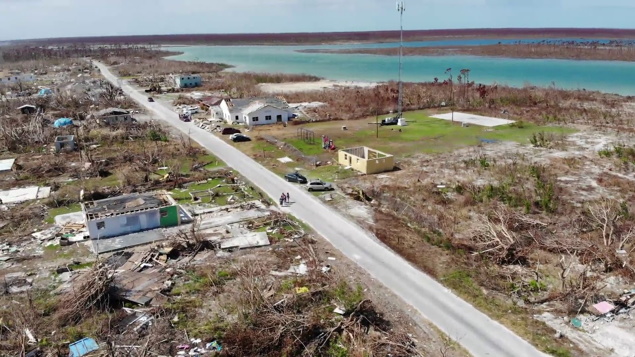 9-30-19 Mclean's Town, Grand Bahama Island Drone Views Of Mobile Cell Hurricane Dorian Destruct
