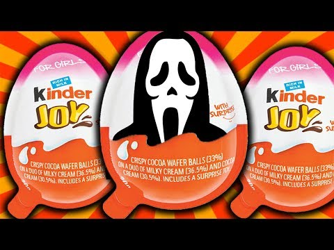 SCREAM GHOST FACE KINDER SURPRISE EGGS UNBOXING!! GHOST is BACK!!