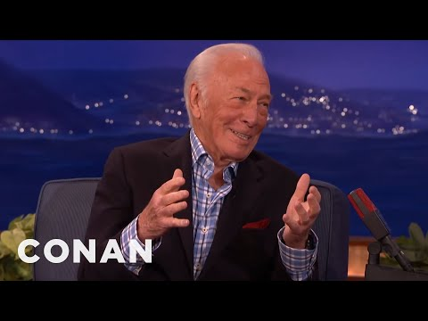 "Christopher Plummer's Secret to Long Life: ""Hard Drinking""   CONAN on TBS"