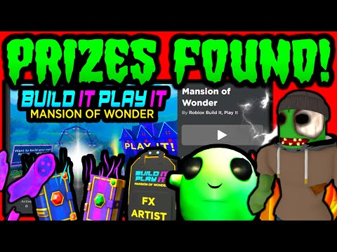 GAME & PRIZES FOUND! ROBLOX MANSION OF WONDER EVENT (Build It Play It)