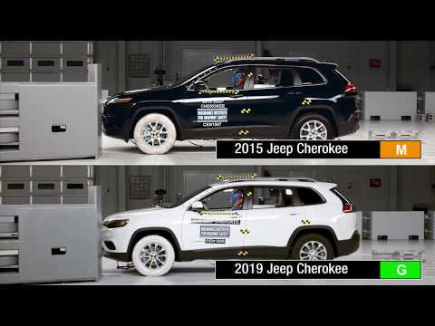 2015 And 2019 Jeep Cherokee Driver-side Small Overlap IIHS Crash Test Comparison