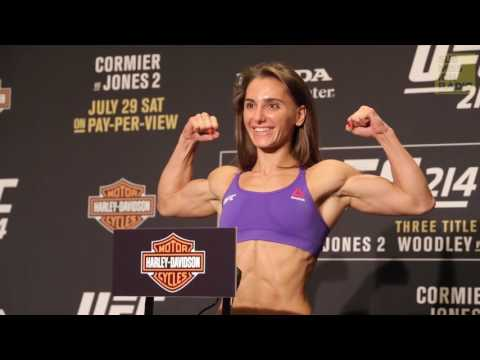 Alexandra Albu and Kailin Curran - Official Weigh-ins - (UFC 214: Cormier vs. Jones 2) - /r/WMMA