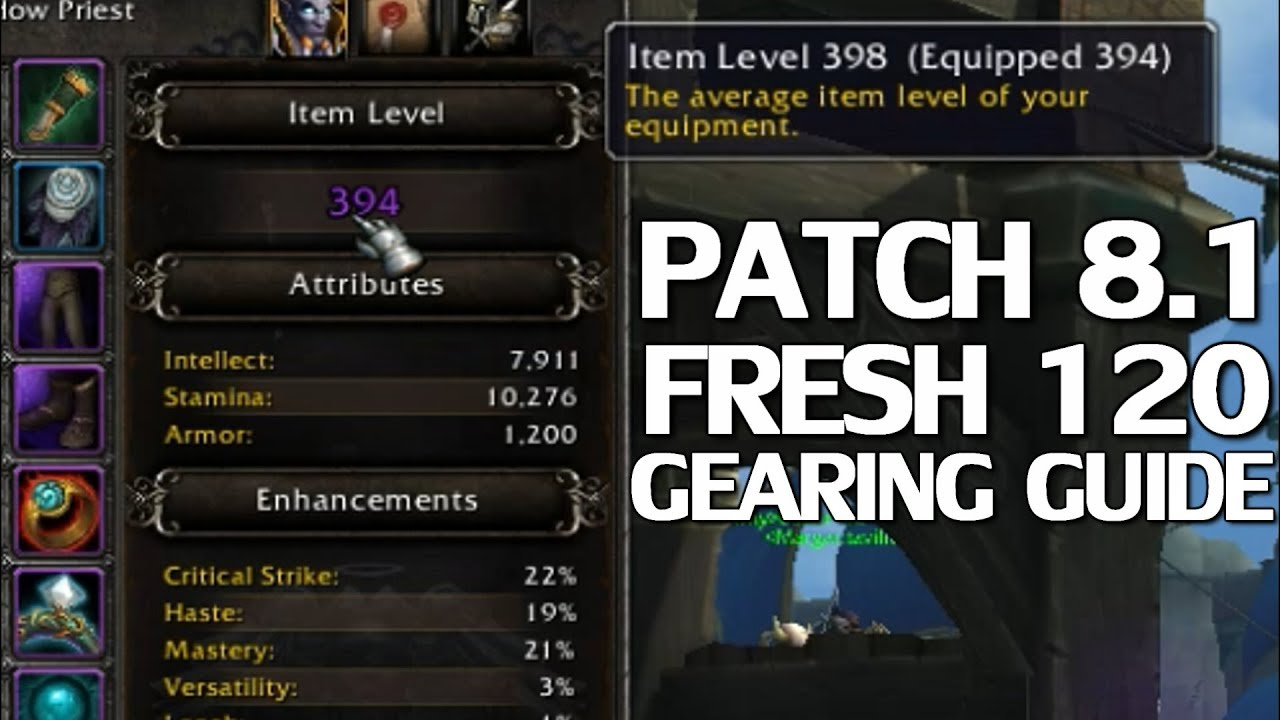 Patch 8 1 Gearing Guide For Fresh 120s - WoW BfA