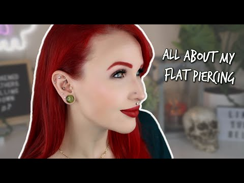 Flat Piercing : All information about - Risks & Painful  & Healing Piercing