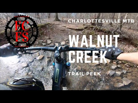 Charlottesville MTB - Walnut Creek - Trail Peek