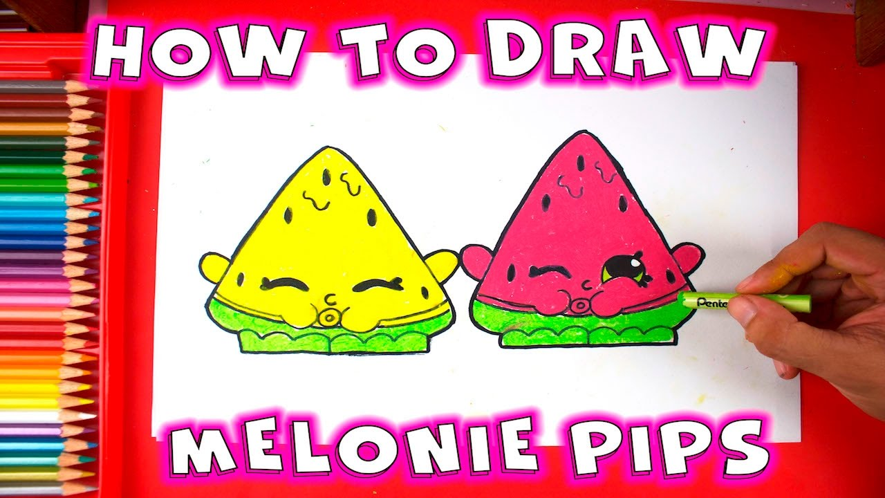 How To Draw Shopkins Melonie Pips Youtube