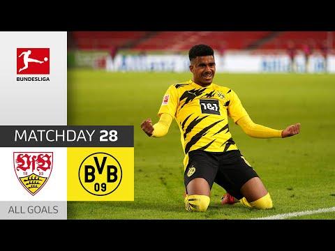 Knauff's debut brings BVB victory! | Stuttgart - Dortmund | 2:3 | All Goals | MD 28 – BuLi 2020/21