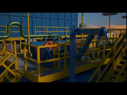3D Animation of an Oil Production Plant and Oil Facility