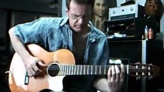 Country Roads Guitar solo Chet Atkins style demonstration