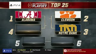 College Football Playoff: Top 25 | (November 6th, 2018)