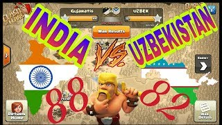 INDIA vs UZBEKISTAN | BEST CLAN WAR HIGHLIGHTS | CLASH OF CLANS | BY GUJARATIS... | HAPPY CLASH