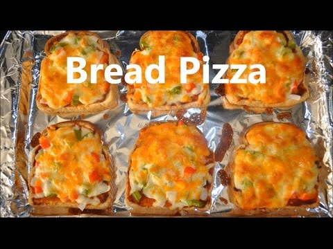 Bread Pizza Recipe - Oven Baked Easy Recipe
