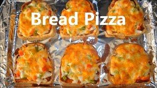 Bread Pizza Recipe - Oטen Baked Easy Recipe