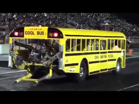 Crazy School Bus with jet engine