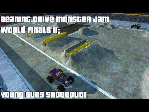 BeamNG.Drive Monster Jam World Finals II; Young Guns Shootout!!