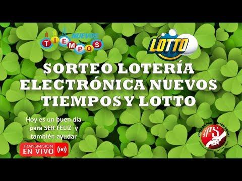 Sorteo Lotería Nuevos Tiempos N°16871 y Lotto N° 1883.  Miércoles 05 de Diciembre 2018. JPS (Noche)