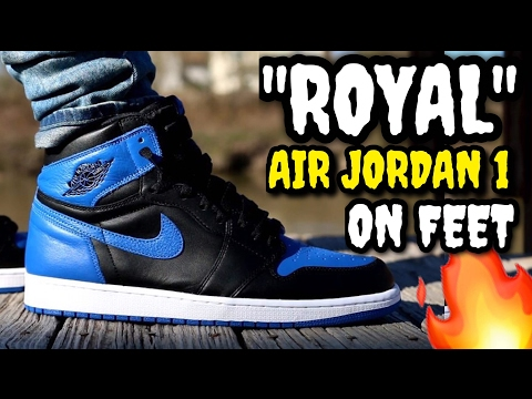 "THIS IS THE JORDAN RETRO YOU NEED!  ""Royal"" Air Jordan 1 ON FEET!"