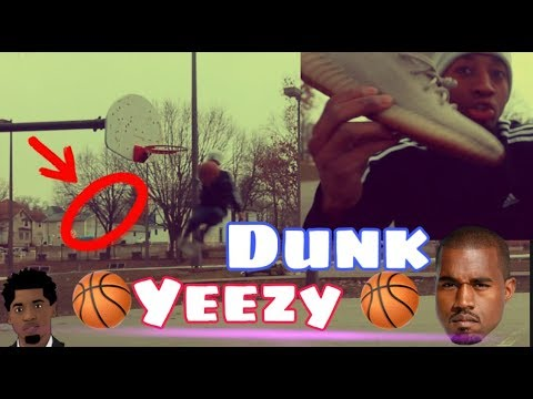 Playing basketball & dunking in adidas Yeezy Boost 350 At thompson snodgrass park