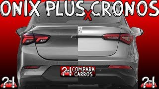 COMPARATIVO Novo Chevrolet Onix Sedan LT 1.0 Turbo 12v MT6 2020 vs Fiat Cronos Drive 1.3 8v MT5 2020