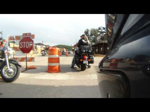 Riding through Hill City, South Dakota. Main Street is Motorcycle-Only during the Sturgis Rally!