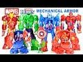 Avengers Captain America Iron Man Spider-Man & Hulk Mech Armor Playskool Marvel Super Hero