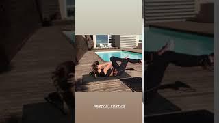 El divertido y sensual entrenamiento de Coral Simanovich al aire libre