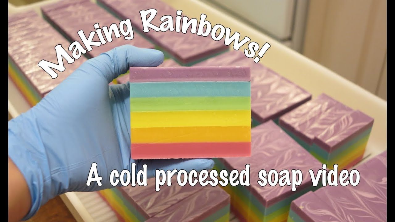 how to make rainbow soap