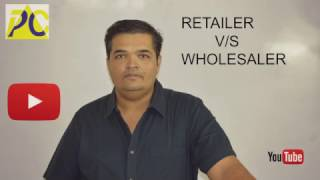 Easy explanation in difference form for topic on what is wholesale and retail.