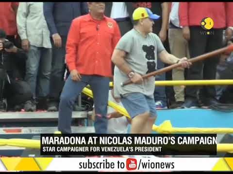 Venezuela's Maduro gets support from Maradona ahead of elections