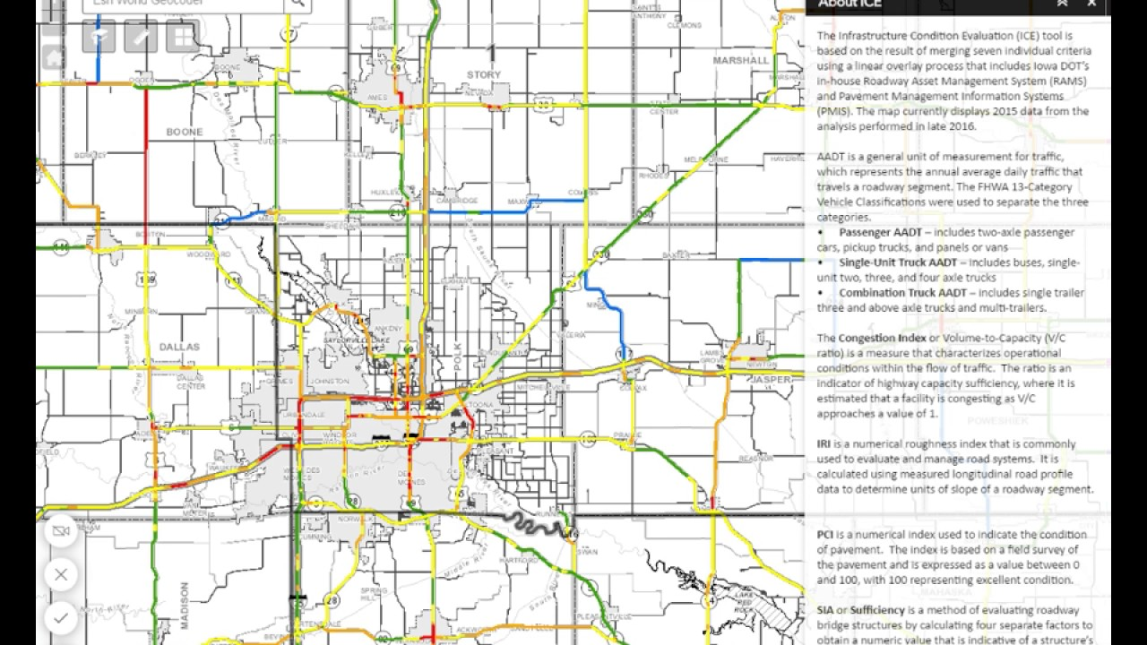 Road Conditions In Iowa Map.Iowa Dot Ice Web Map Demo Youtube