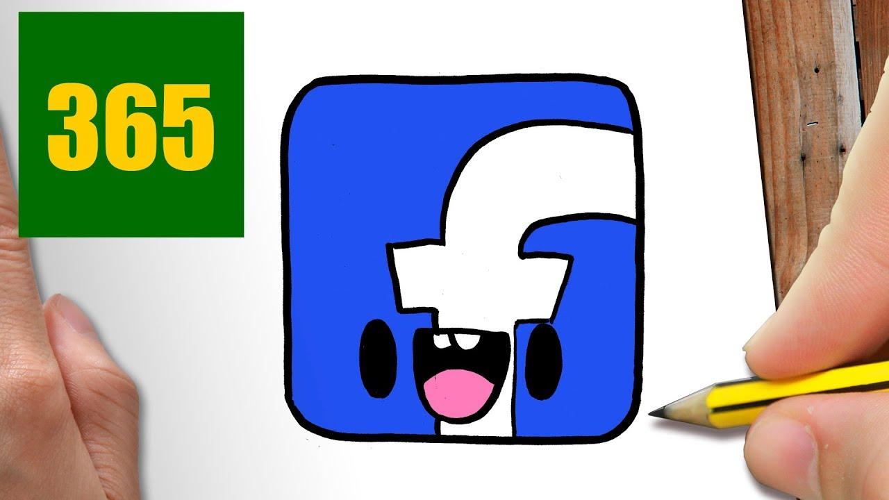 Comment Dessiner Logo Facebook Kawaii Etape Par Etape Dessins