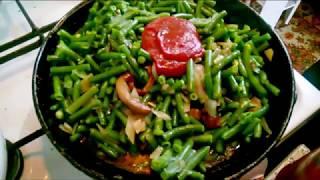 Рецепт стручковой фасоли с грибами