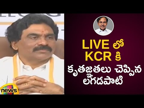 Lagadapati Rajagopal Says Thanks To Telangana CM KCR In Live | Lagadapati Election Survey 2019