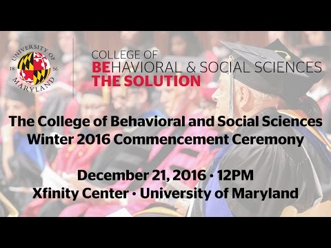 The College of Behavioral and Social Sciences Winter Commencement Ceremony