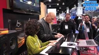 10 Year Old Jams with David Bowie Keyboardist Mike Garson at Synthogy Ivory II Booth