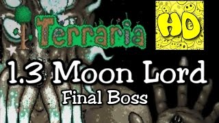 Terraria 1.3 Moon Lord Lunar Event Final Boss (1.3 Bosses)