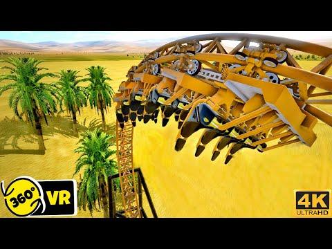 [4K 360 VR Video] Desert Quick Start Coaster Simulator for Google Cardboard 360° 3D VR SBS