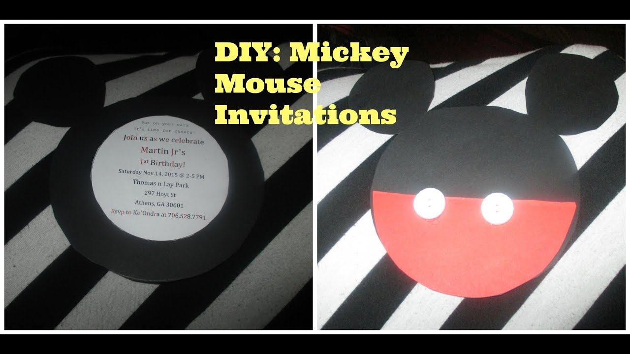 Vlogtober Day 12 DIY Mickey Mouse Invitations YouTube