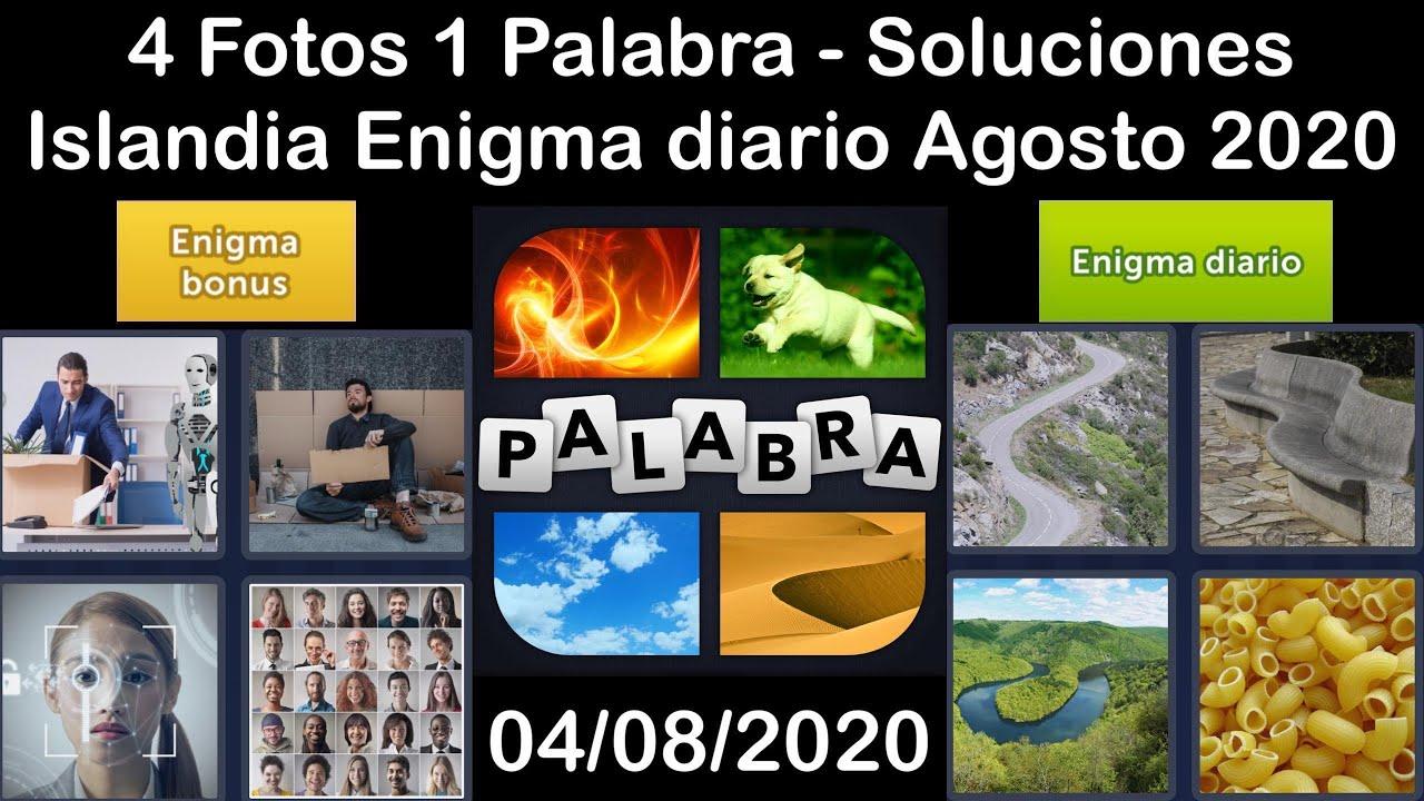 4 Fotos 1 Palabra - Islandia - 04/08/2020 - Agosto 2020 - Enigma diario + Enigma bonus - Solucion