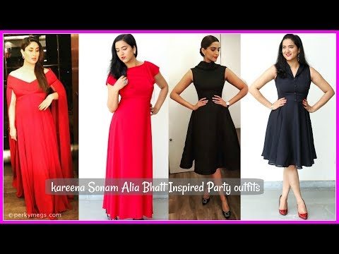 Kareena Sonam Alia Bhatt Inspired Party Outfits ft. Voonik | Celeb Lookbook | Perkymegs