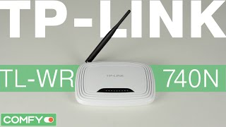 tP-LINK TL-WR740N - доступный маршрутизатор для дома - Видеодемонстрация от Comfy.ua