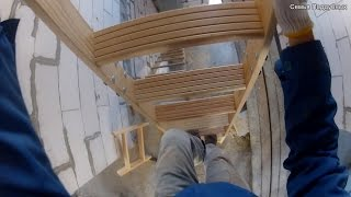 видео Чердачная лестница: как произвести монтаж своими руками?