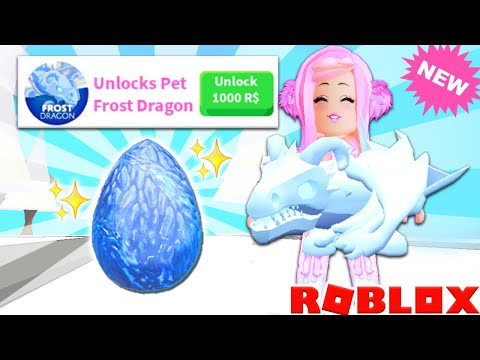 Brand New FROST DRAGON In Adopt Me! Spending All My Robux On New Update... Adopt Me Frost Dragon