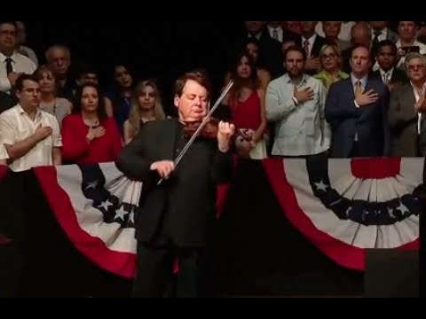 Cuban Born Violinist Plays Star Spangled Banner For Trump